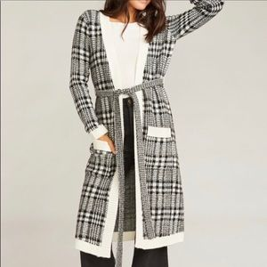 NWT Show Me Your MuMu Belted Plaid Duster (236)